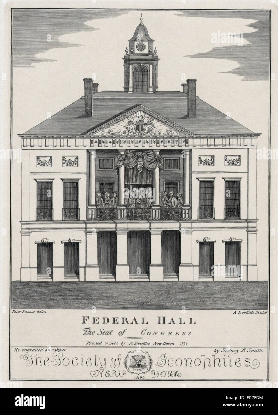 Federal Hall. The seat of Congress. Date 1899. - Stock Image
