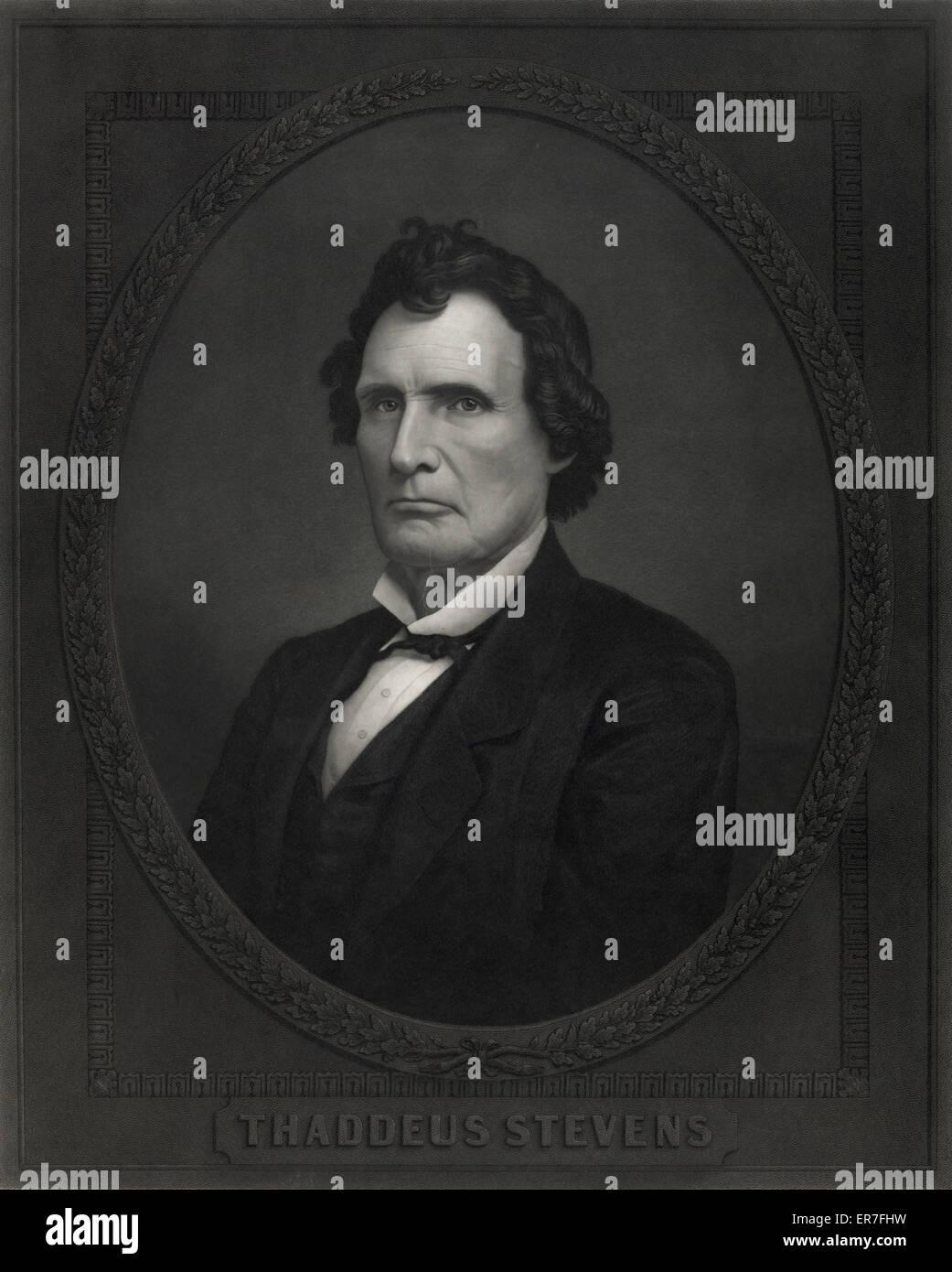 Thaddeus Stevens. - Stock Image