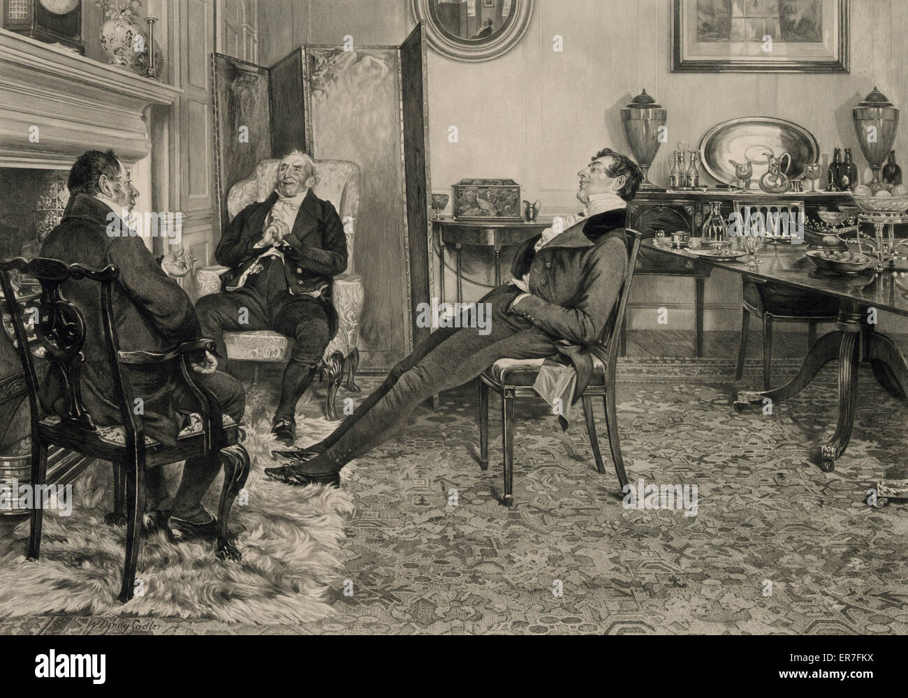 After dinner rest awhile. Date c1905 Aug. 31. - Stock Image