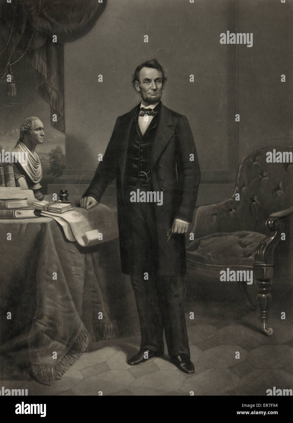Abraham Lincoln. President of the United States. Stock Photo