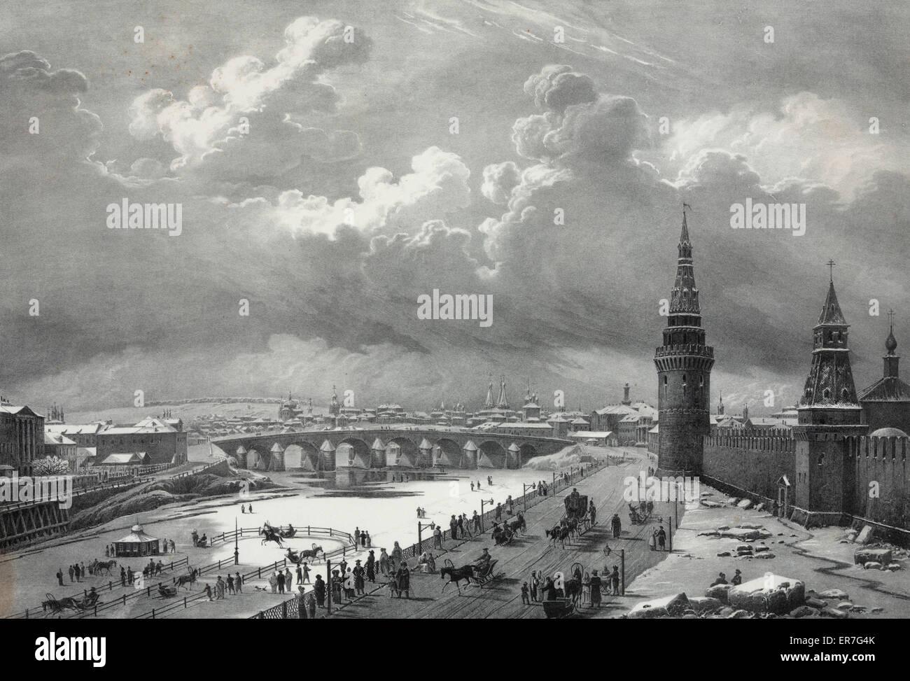 Vue du pont de Pierre, prise du cremlin. - Stock Image