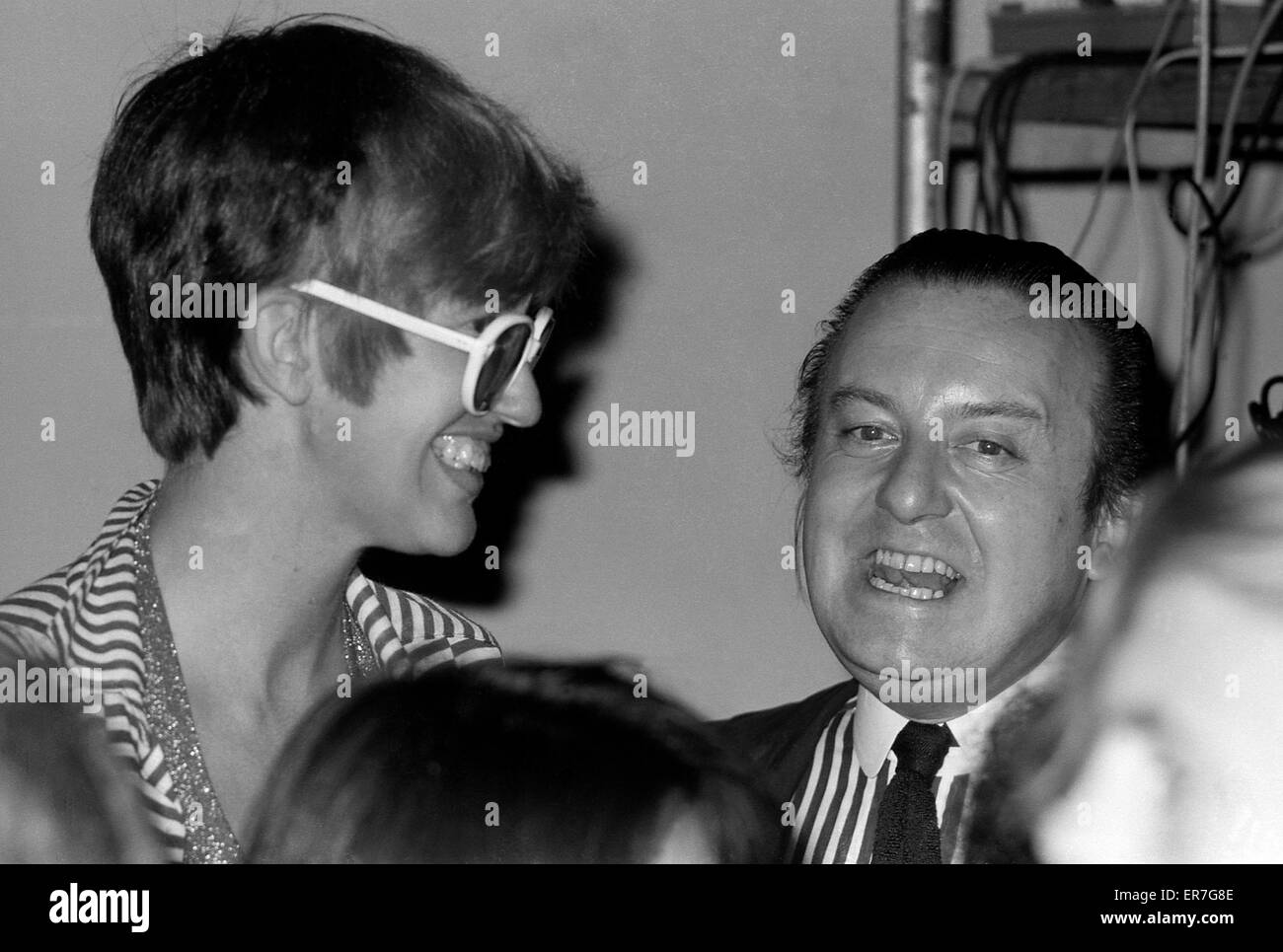 Janet Street-Porter and architect Cedric Price at the Architectural Association Summer Session at the ICA Institute - Stock Image