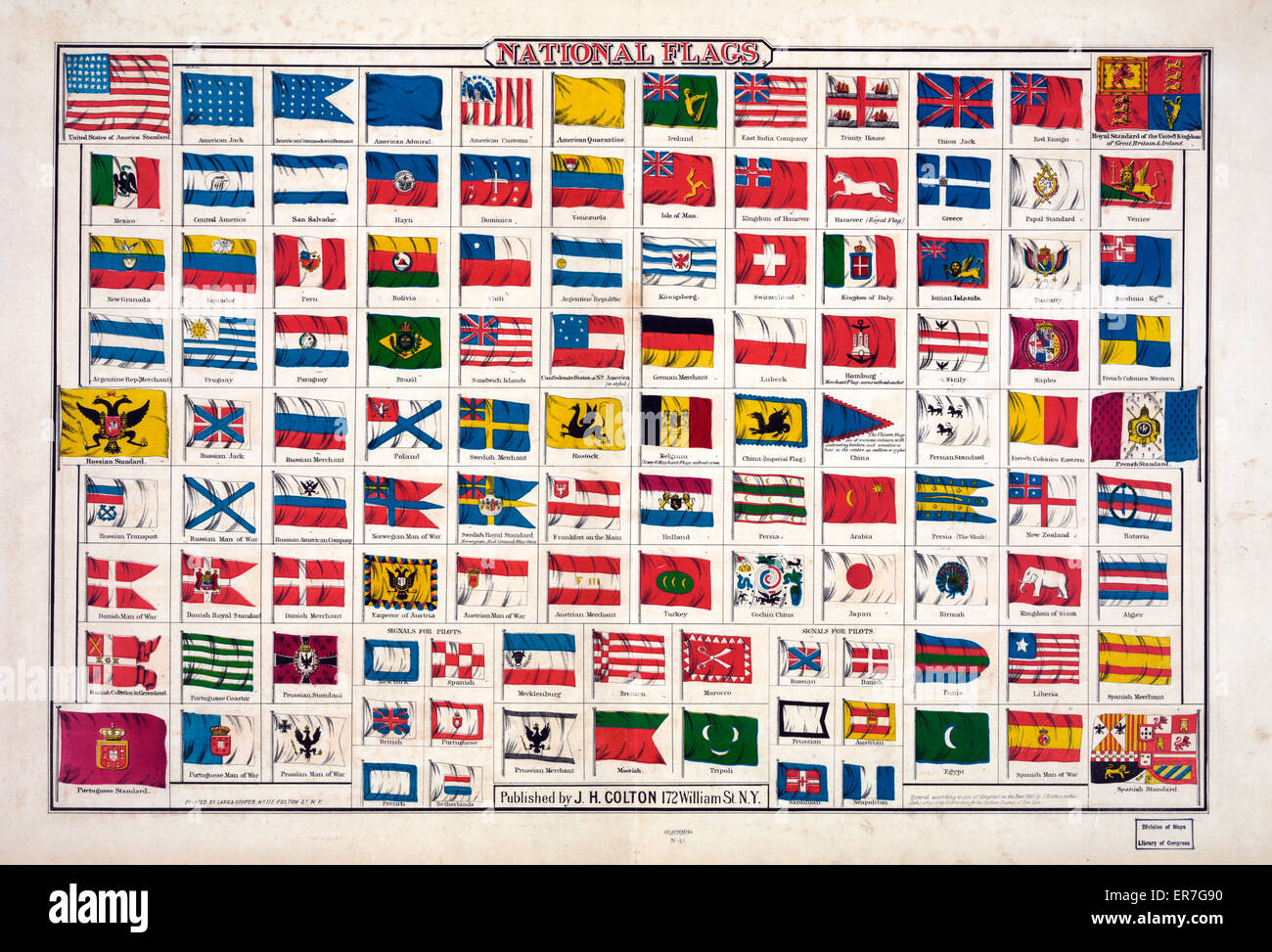 National Flags. - Stock Image
