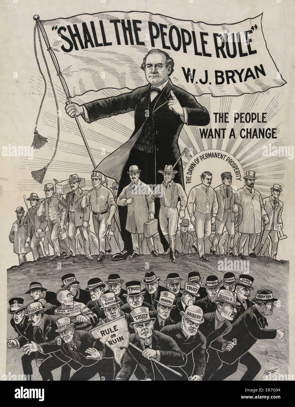 Shall the people rule. W.J. Bryan. - Stock Image
