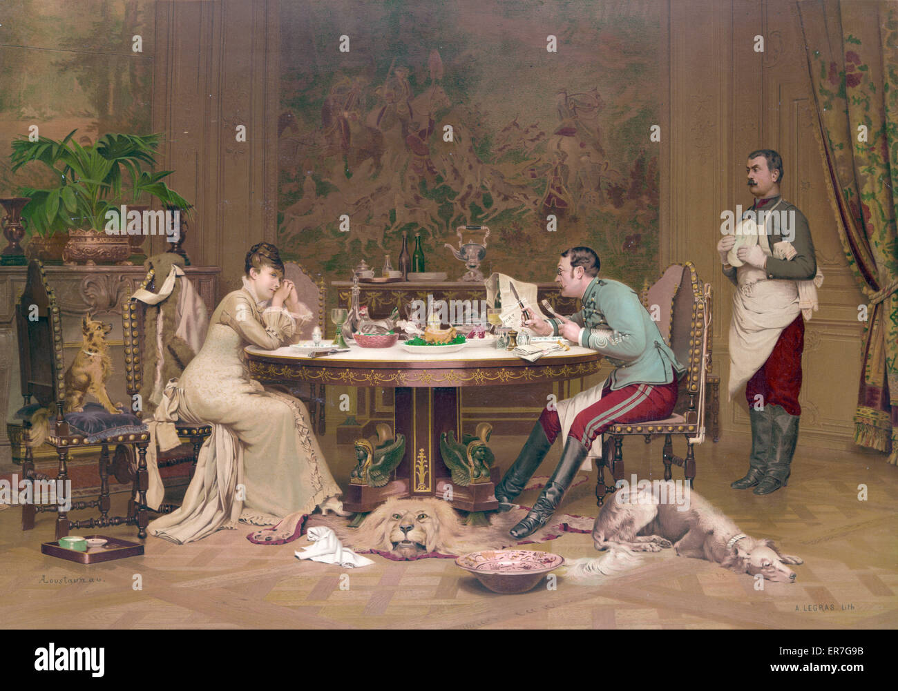 Un mariage de convenance. Date c1881 Dec. 12. - Stock Image