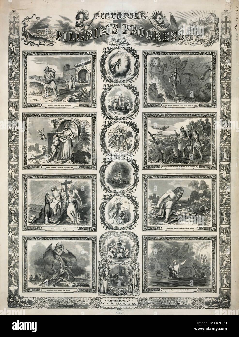Pictorial pilgrim's progress. Date c1862 May 29. - Stock Image
