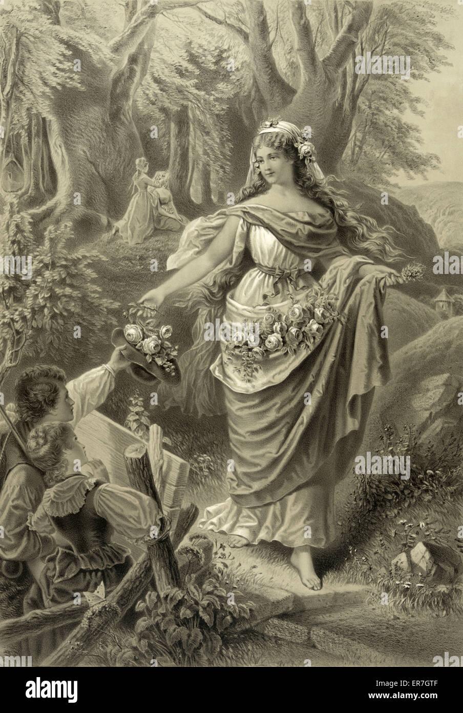 Das madchen aus der fremde. Date c1879. - Stock Image