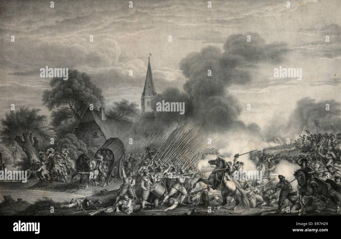 Die schlacht bei wimpfen. - Stock Image