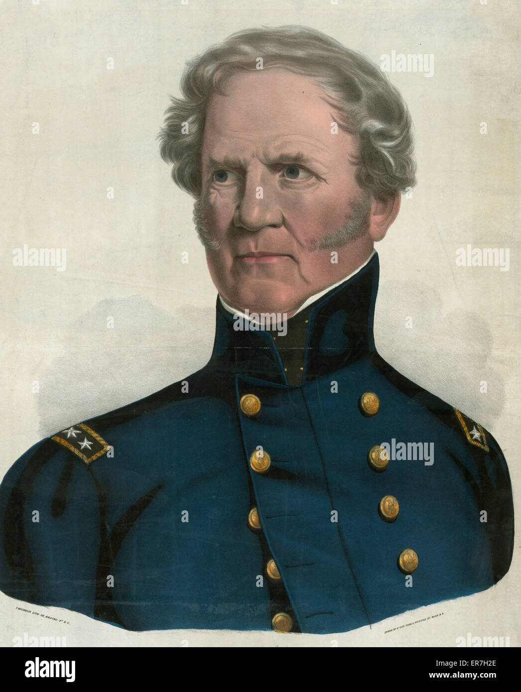 Winfield Scott, Major Genl. of the U.S. Army. Date c1847 June 26. - Stock Image
