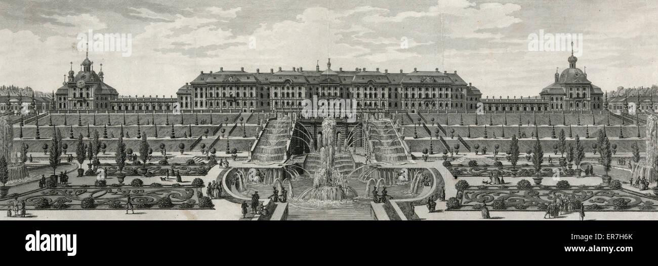 Peterhoff. Maison de plaisance de Sa Majeste Imperiale de toutes le Russie &c. Peterhoff. Maison de plaisance - Stock Image