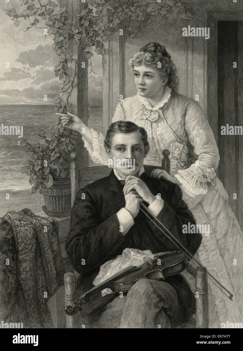 The response. Date c1883. - Stock Image