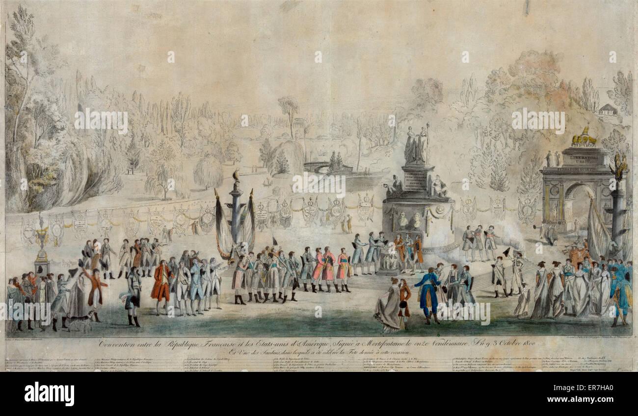 Convention entre la Republique Francaise et les Etats, unis d'Amerique. 1800. - Stock Image