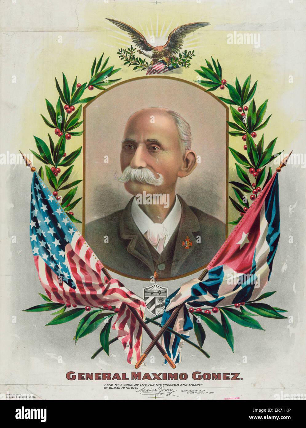 General Maximo Gomez. - Stock Image