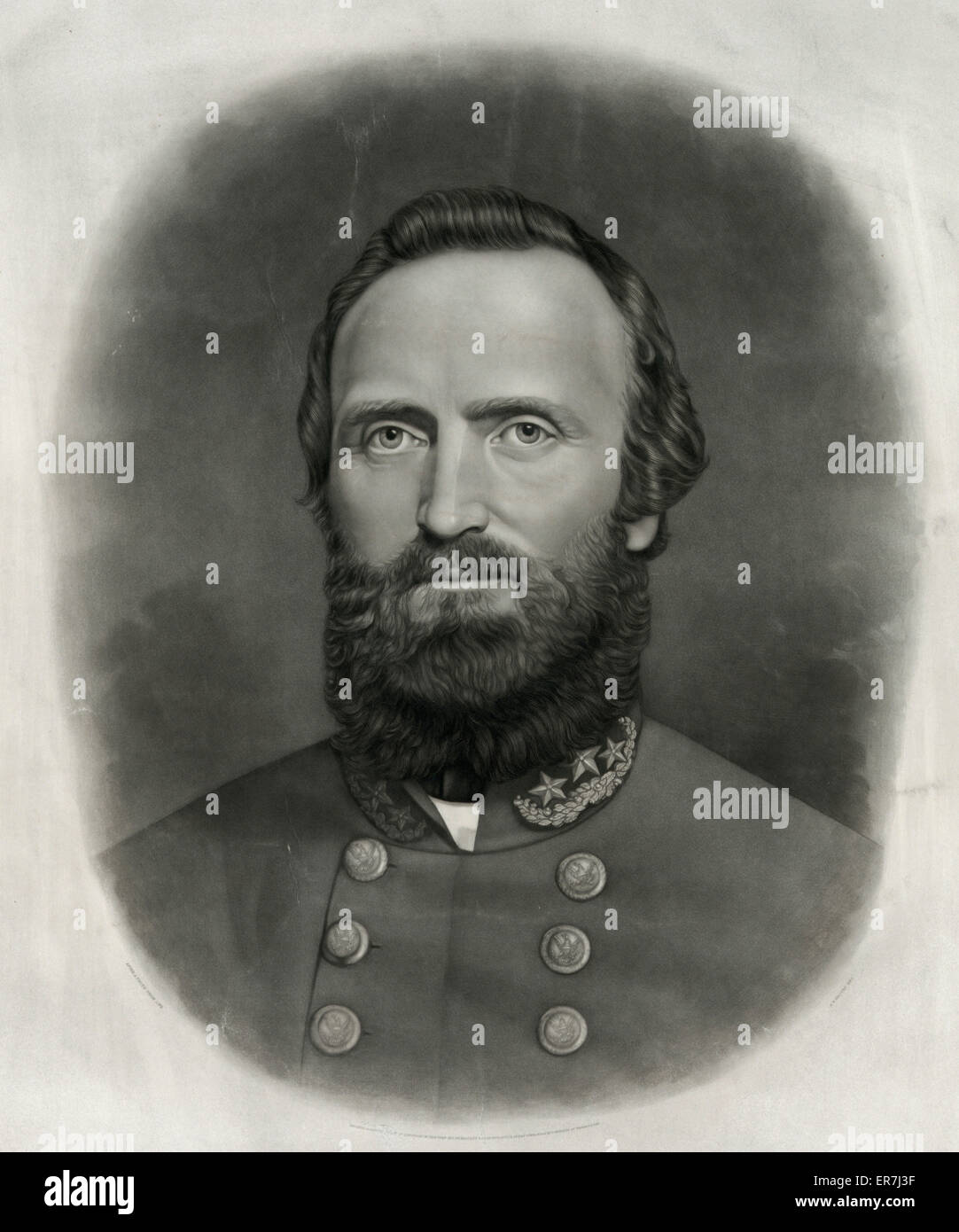 Thomas Jonathan Stonewall Jackson, Confederate General C. 1871 - Stock Image