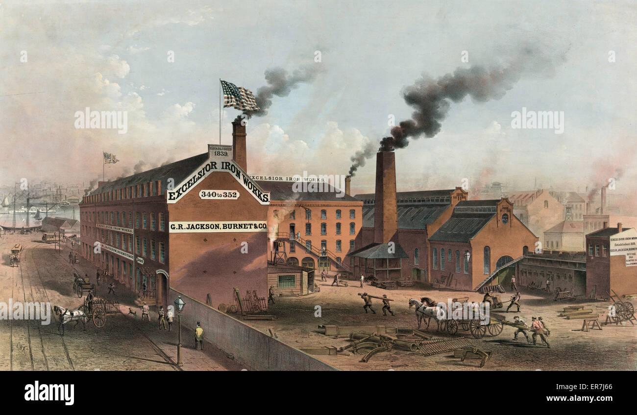 Excelsior Iron Works. - Stock Image