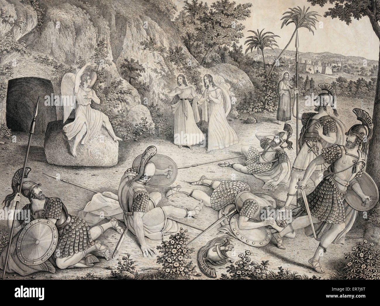 The resurrection of Jesus Christ. Date c1835 May 1. - Stock Image