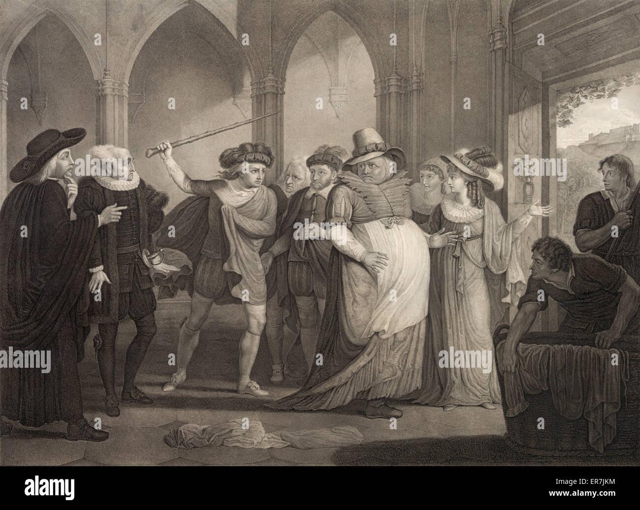 Shakspeare., Merry Wives of Windsor., Act IV. scene II - Stock Image