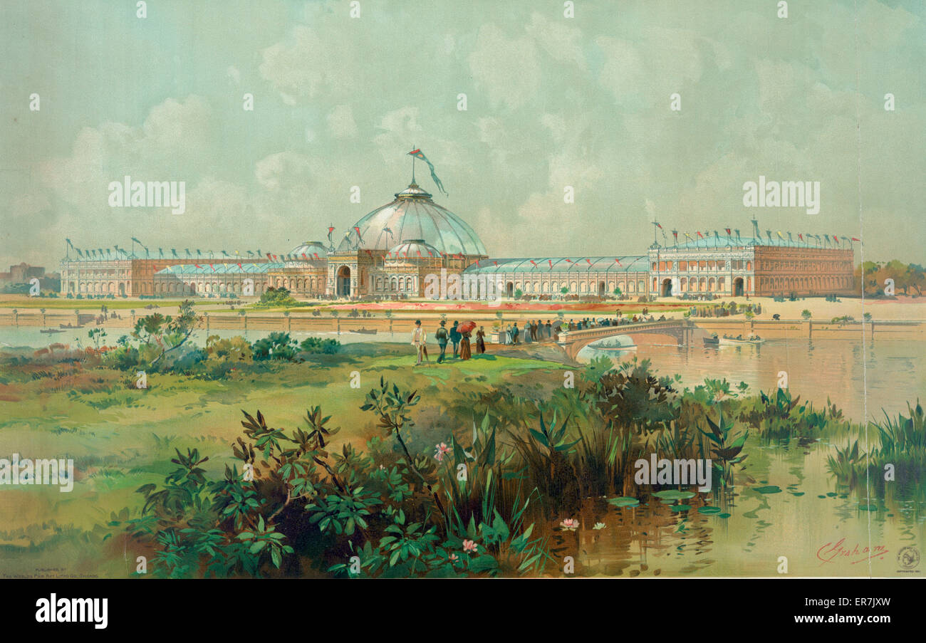Horticultural hall, World's Columbian Exposition. Stock Photo