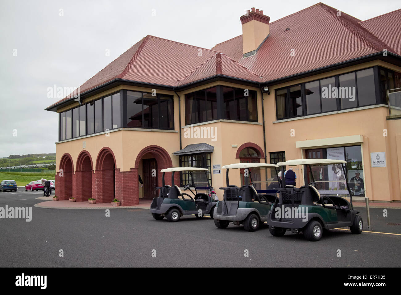 Royal Portrush Golf Club clubhouse Northern Ireland - Stock Image