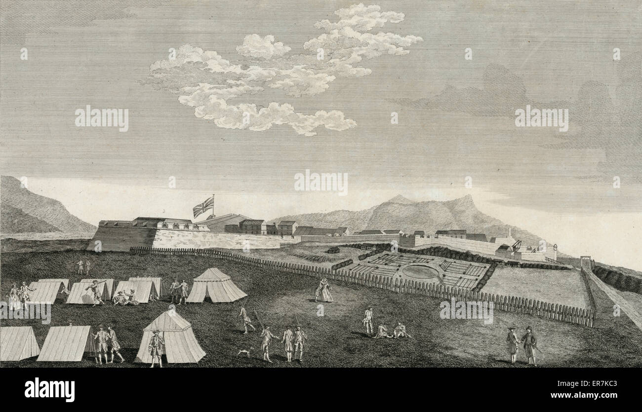 A north view of Fort Royal in the island of Guadaloupe, when in Possession of his majestys forces in 1759. - Stock Image