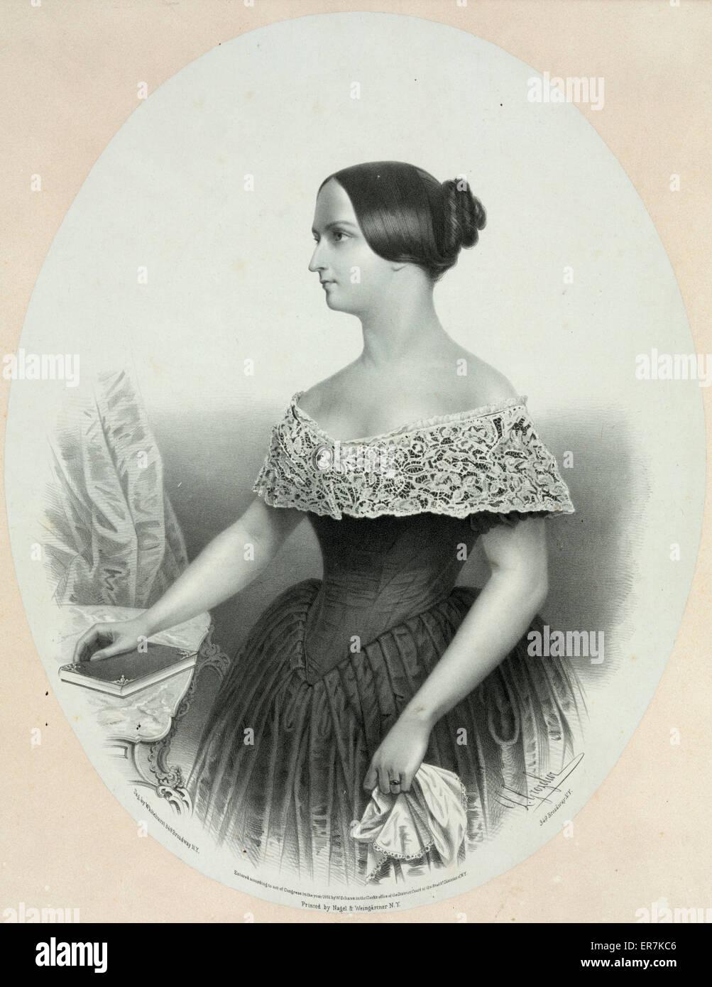 Catharine Norton Forrest. Date c1852 Jan. 27. - Stock Image