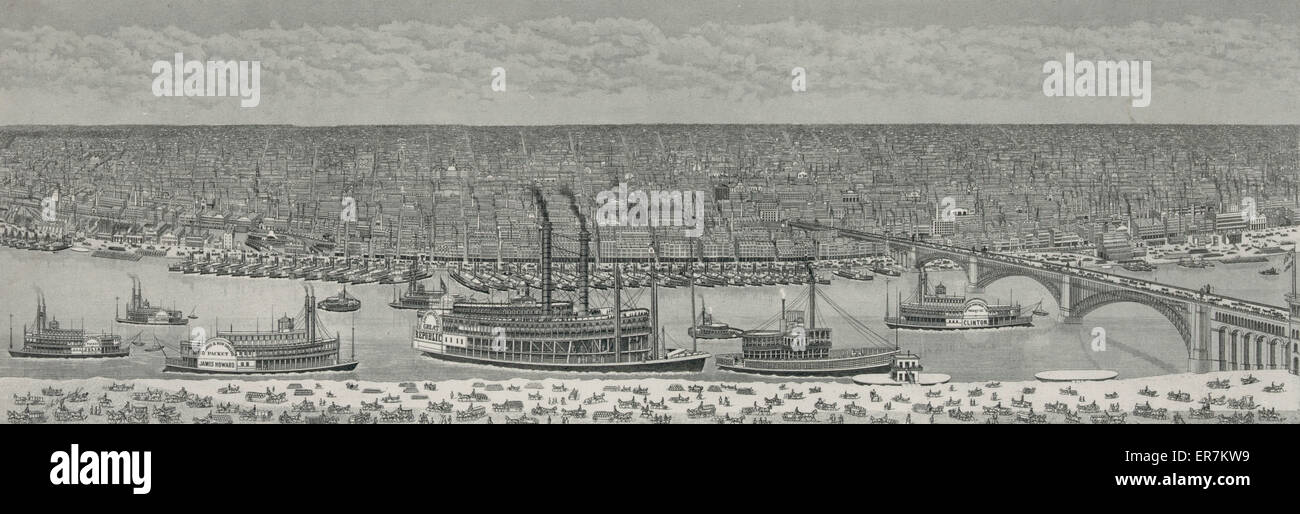 Saint Louis, Missouri, America c. 1874 - Stock Image