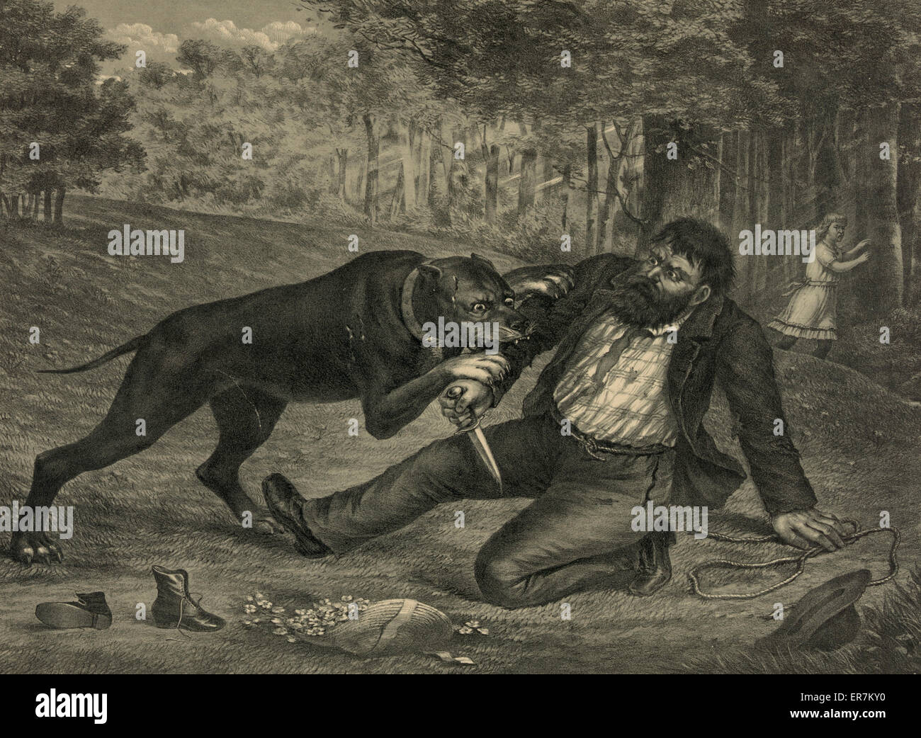 A deadly conflict. The kidnapper foiled. Date c1892 Nov. 12. - Stock Image