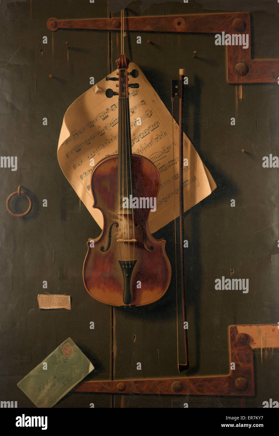 Still life with violin. - Stock Image