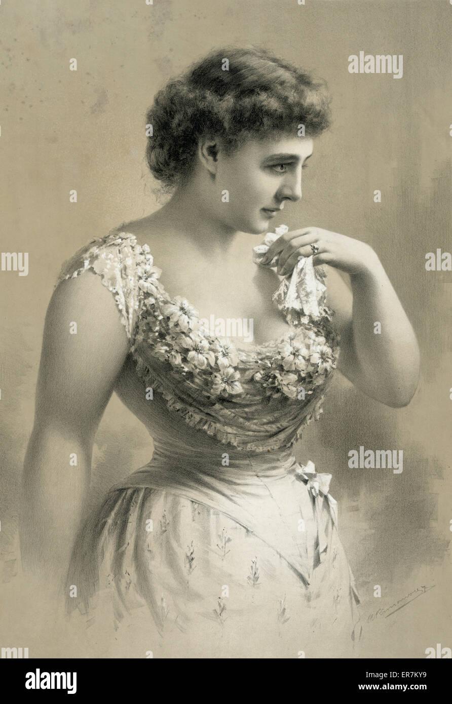 Unidentified woman. Date c1891 Apr. 20. - Stock Image