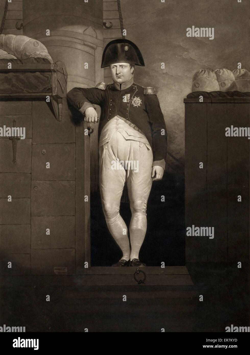 Napoleon Bonaparte plump ship (?) - Stock Image