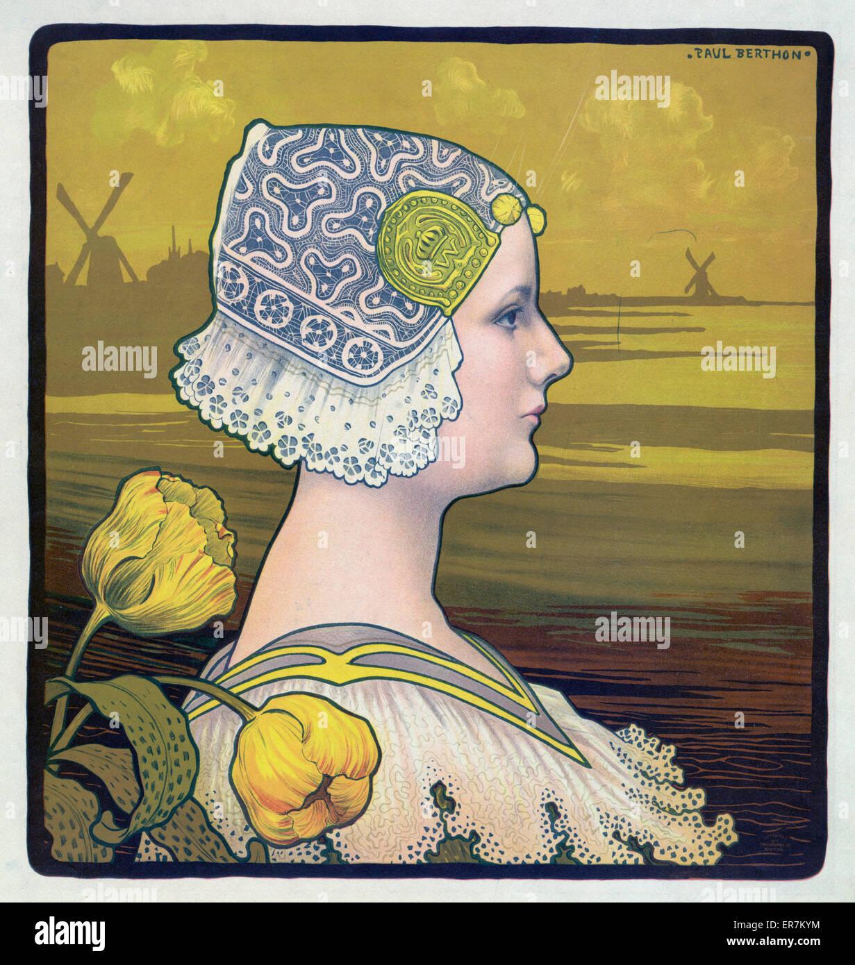 Sa tres gracieuse majeste. La reine wilhelmine. Date c1901 Nov. 13. - Stock Image