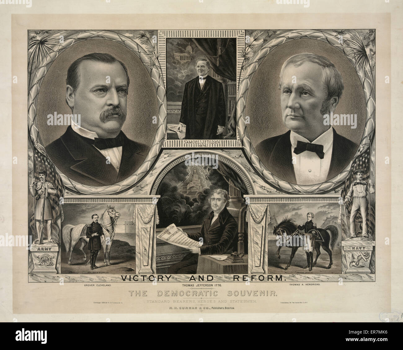 The democratic souvenir. Date c1884 Aug. 11. - Stock Image