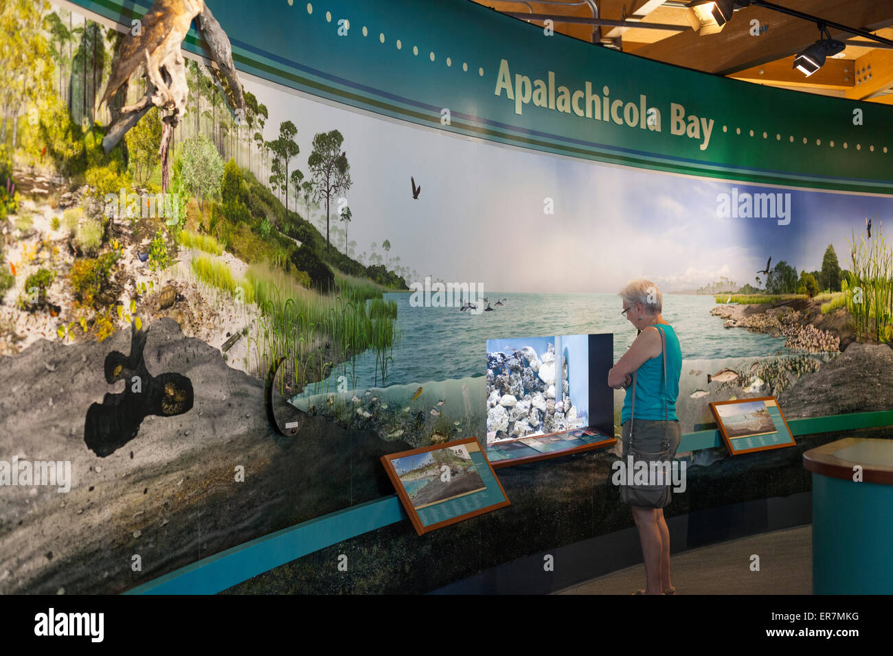 Eastpoint, Florida - The visitor center of the Apalachicola National Estuarine Research Reserve. - Stock Image