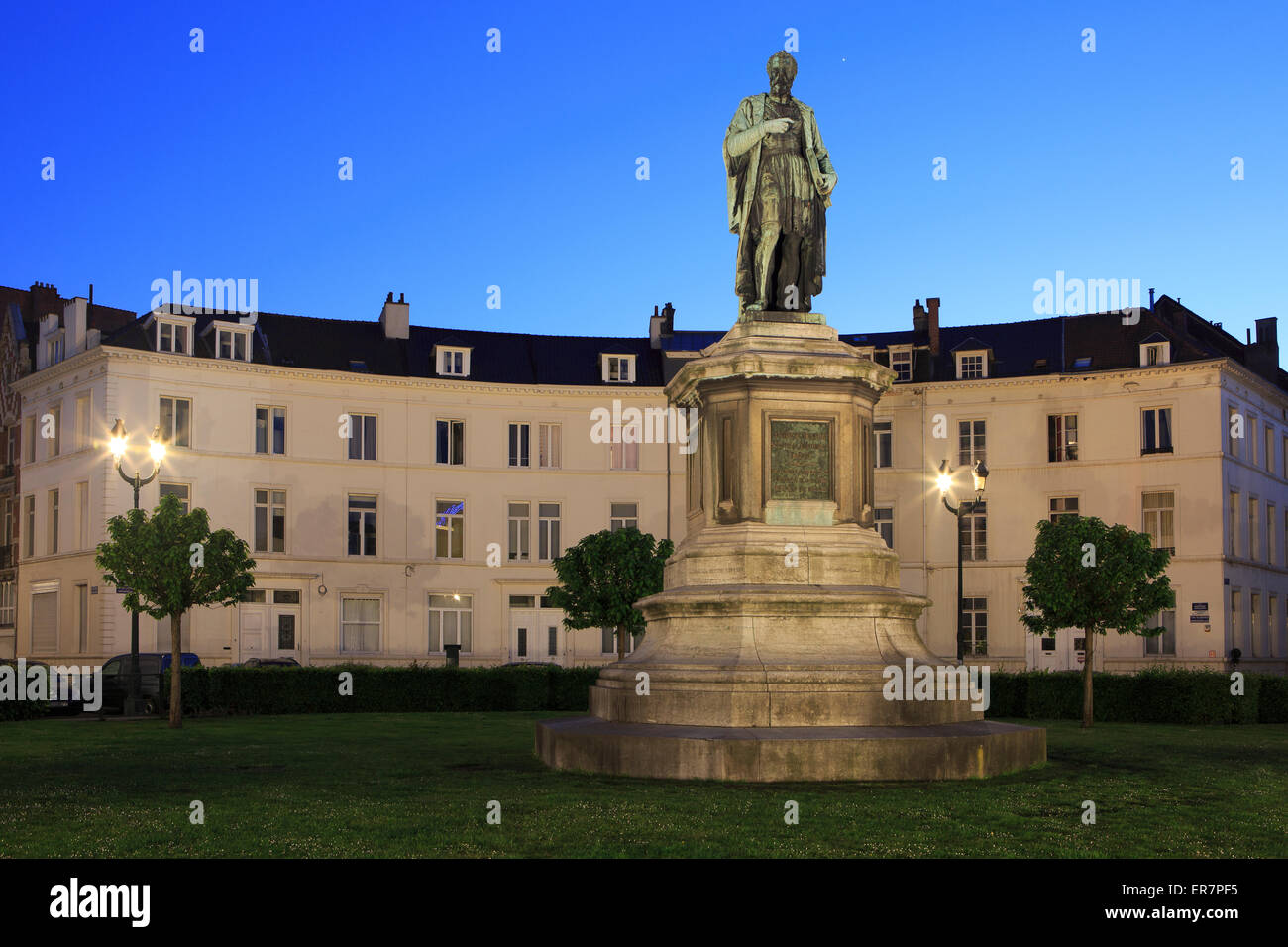 Statue of the anatomist and physician Andreas Vesalius in Brussels, Belgium - Stock Image