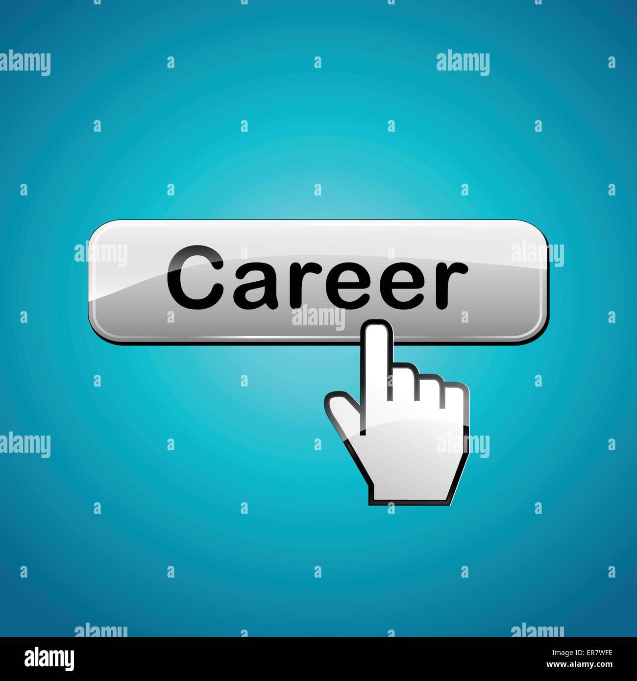 Vector illustration of career web button concept - Stock Vector