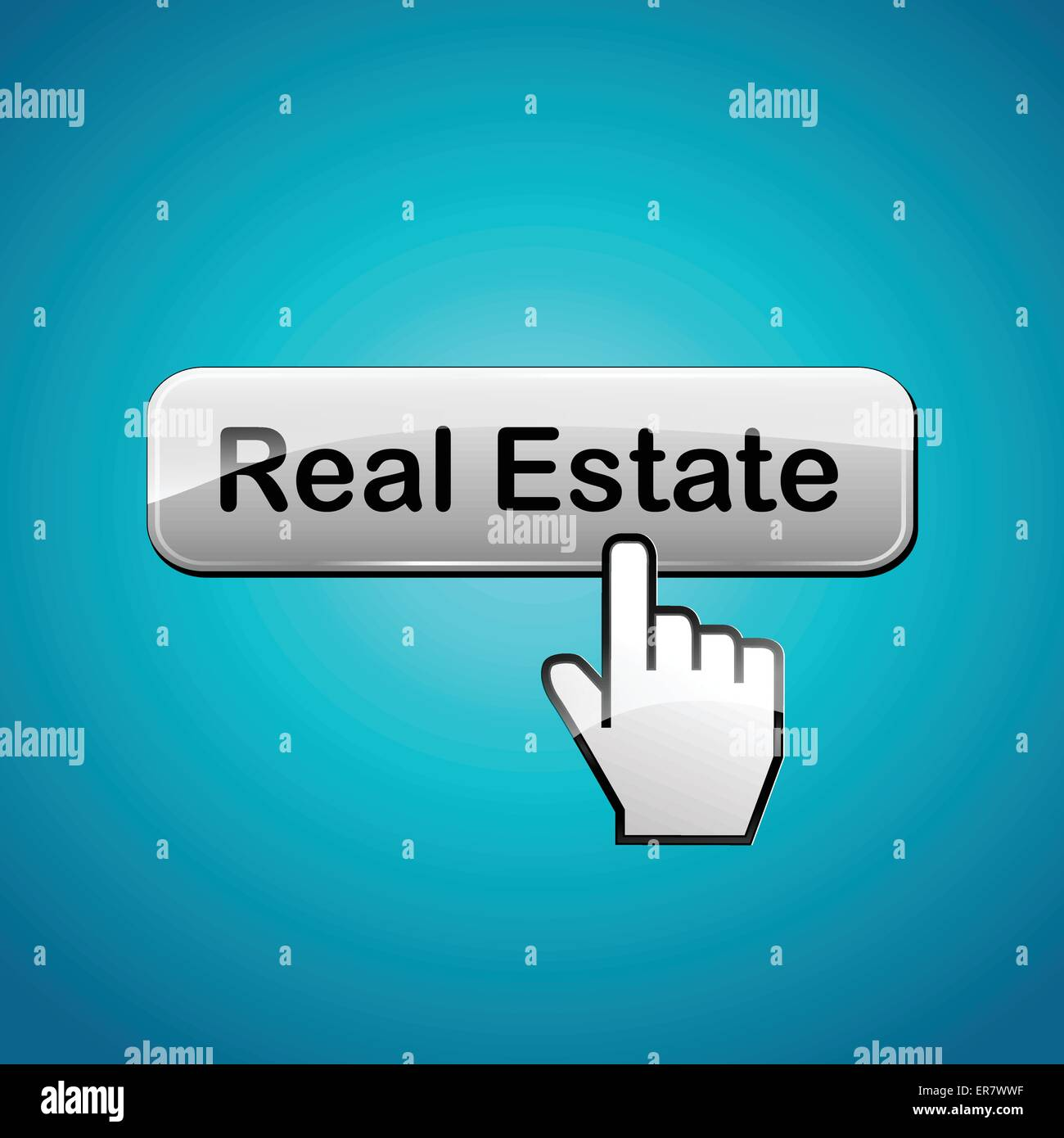 Vector illustration of real estate button concept background - Stock Vector