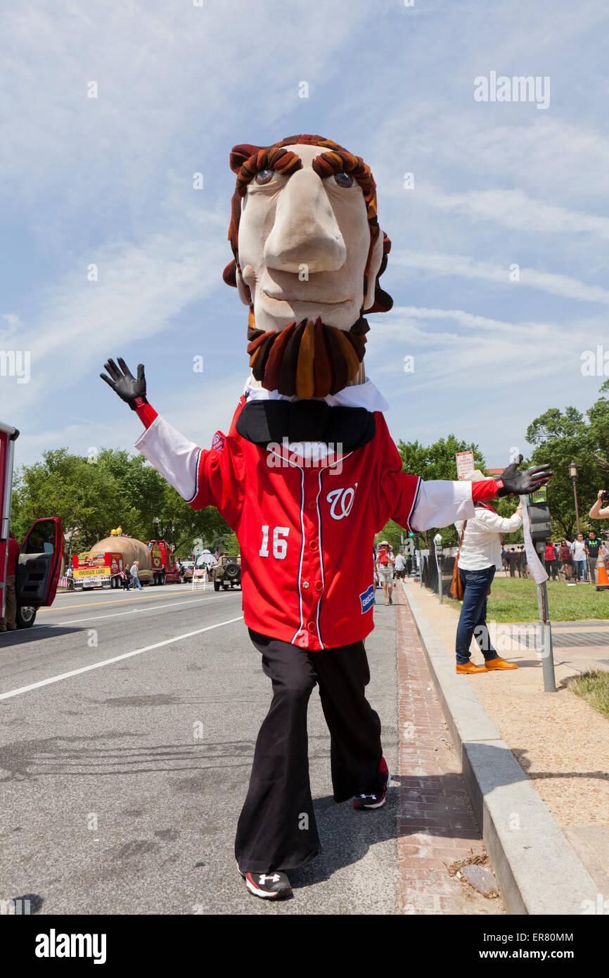 The Racing Presidents - Washington Nationals baseball team mascots - Stock Image