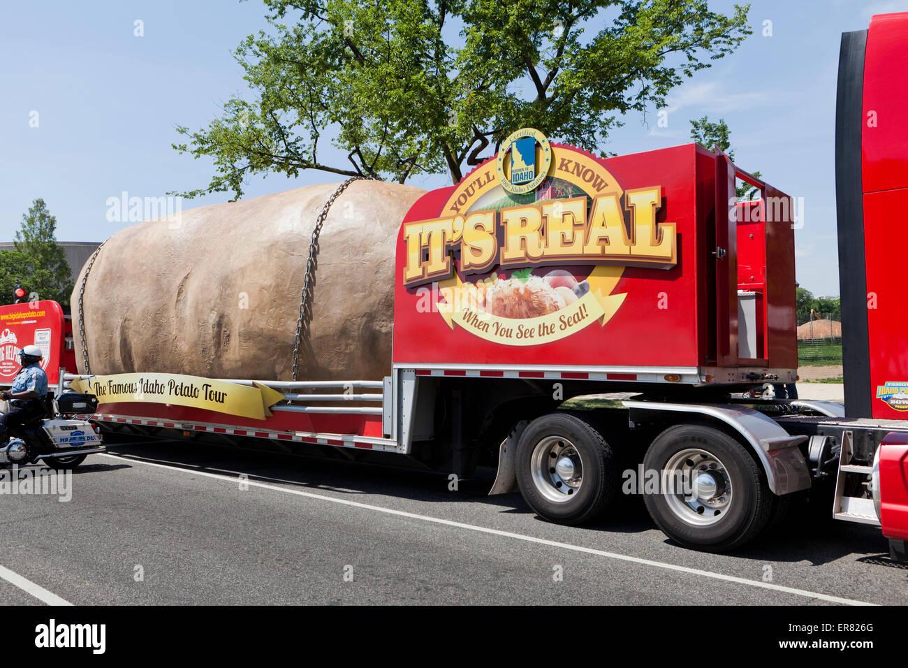 Idaho potato promotion truck sign - USA Stock Photo