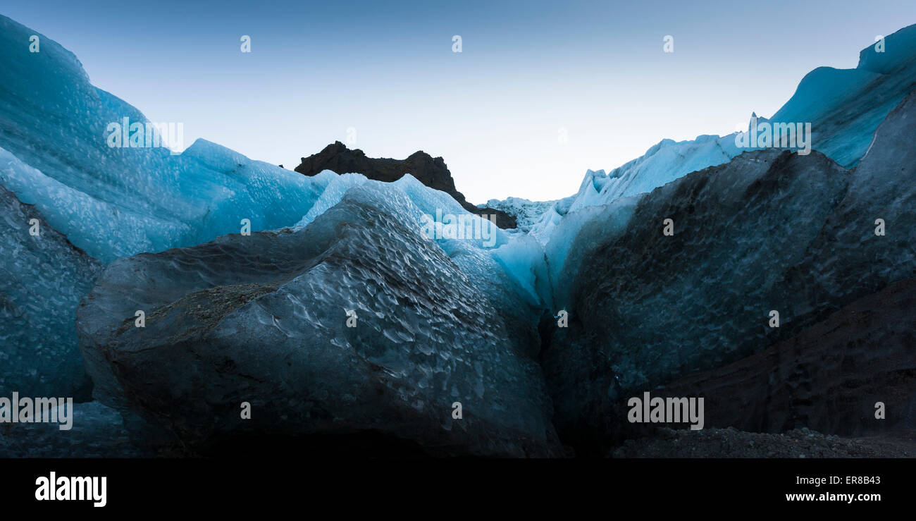 Surrounding glacier ice wall - Stock Image
