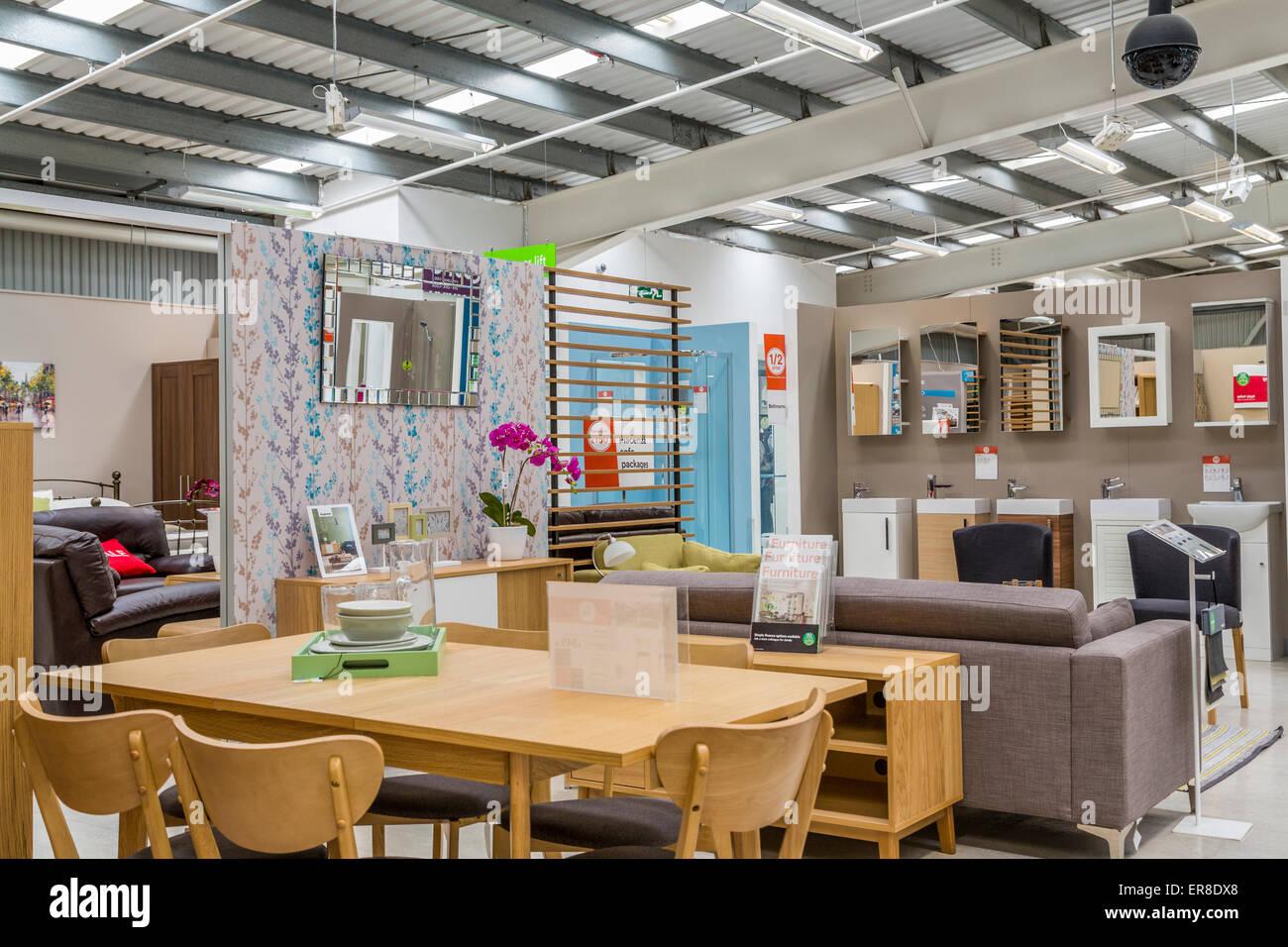 A Homebase Furniture Showroom London England Uk Stock Photo