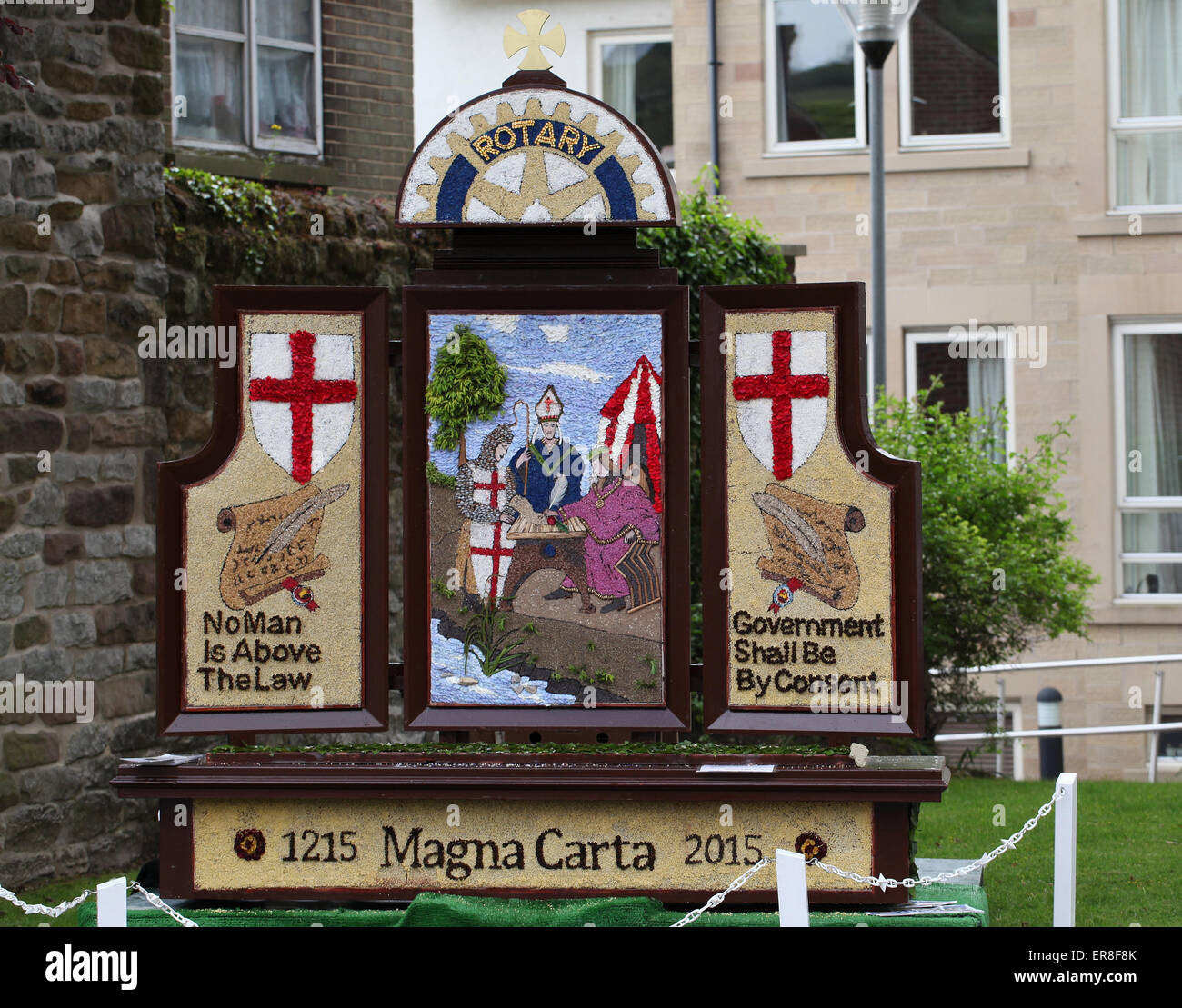 2015 Well dressing at Wirksworth in Derbyshire - Stock Image