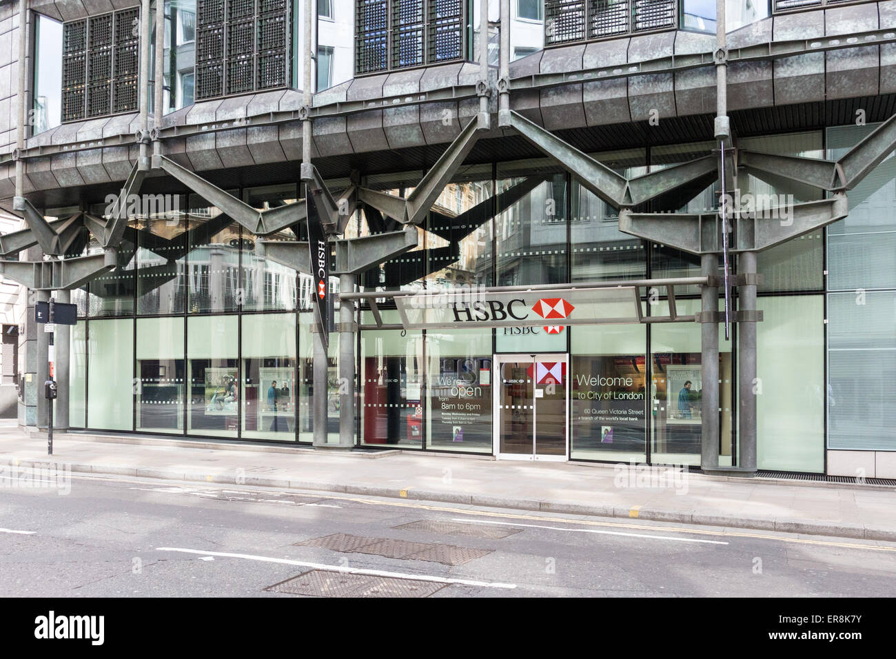 HSBC bank on 60 Queen Victoria Street London EC4N 4TR Stock Photo