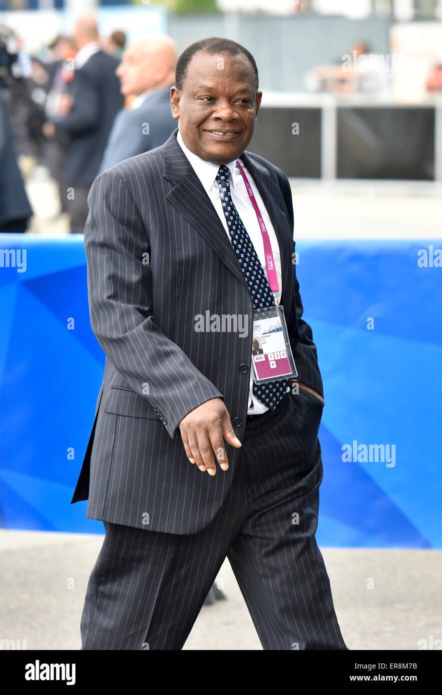 Zurich, Switzerland. 29th May, 2015. FIFA delegate Yves Jean Bart (Haiti) arrives at Zurich Hallenstadion for the - Stock Image