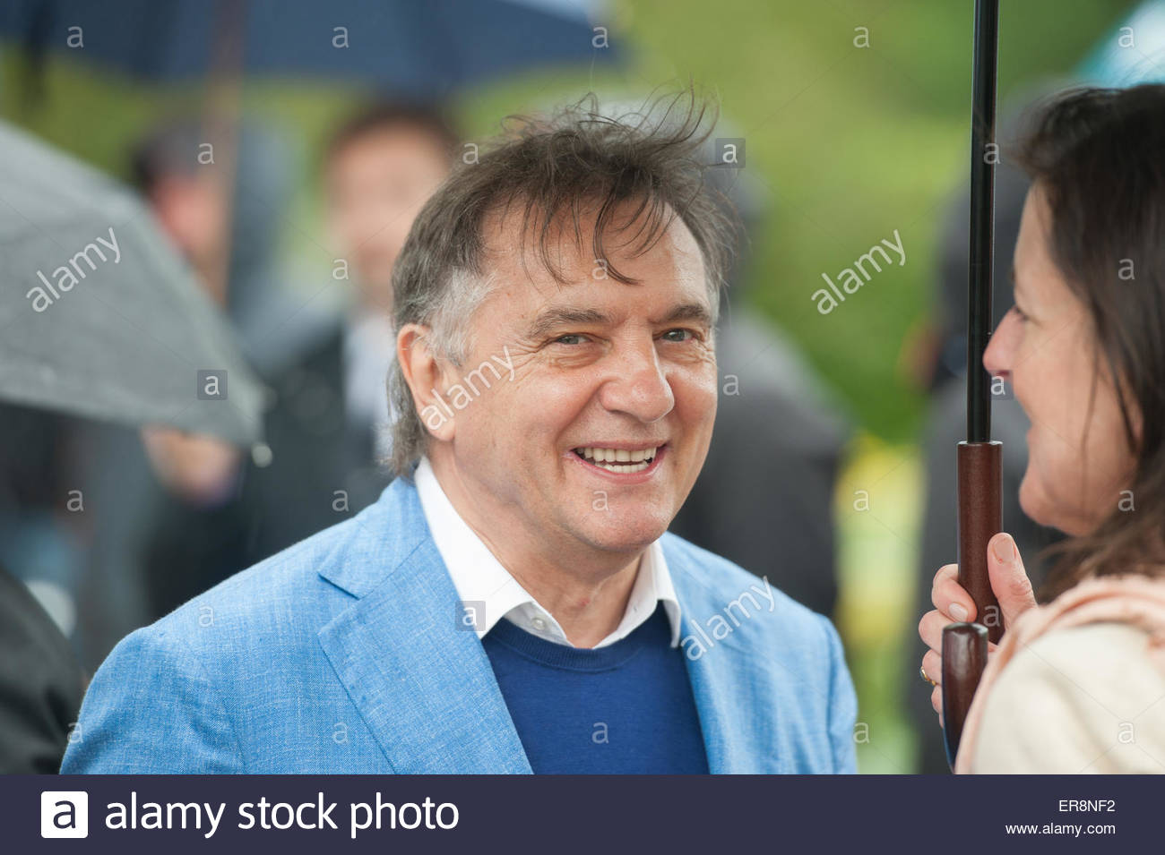 London UK 18th May 2015  RHS Chelsea Flower Show press day. Celebrity chef Raymond Blanc. - Stock Image