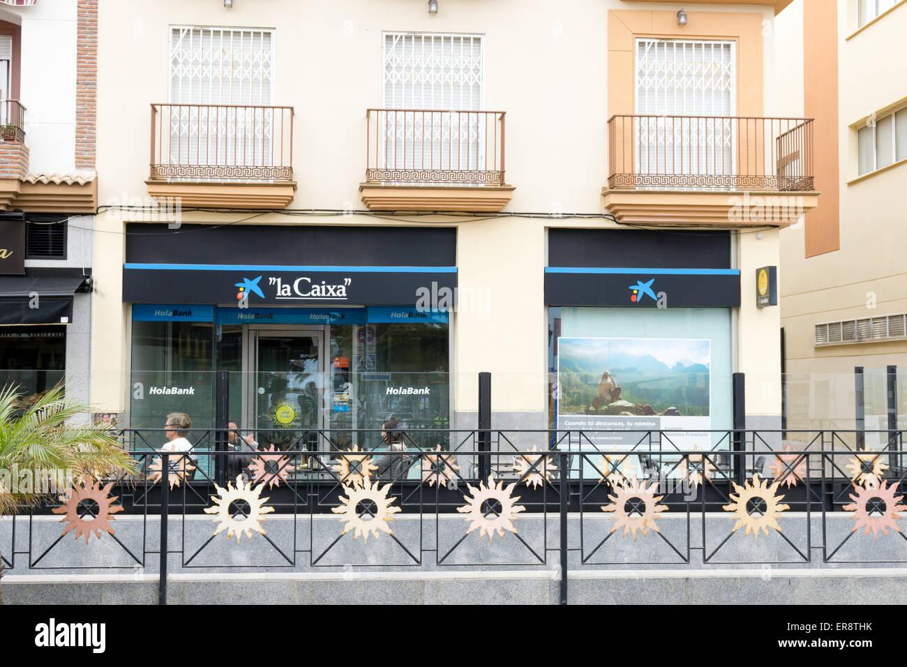 branch of La Caixa bank in Fuengirola, Malaga, Spain. - Stock Image