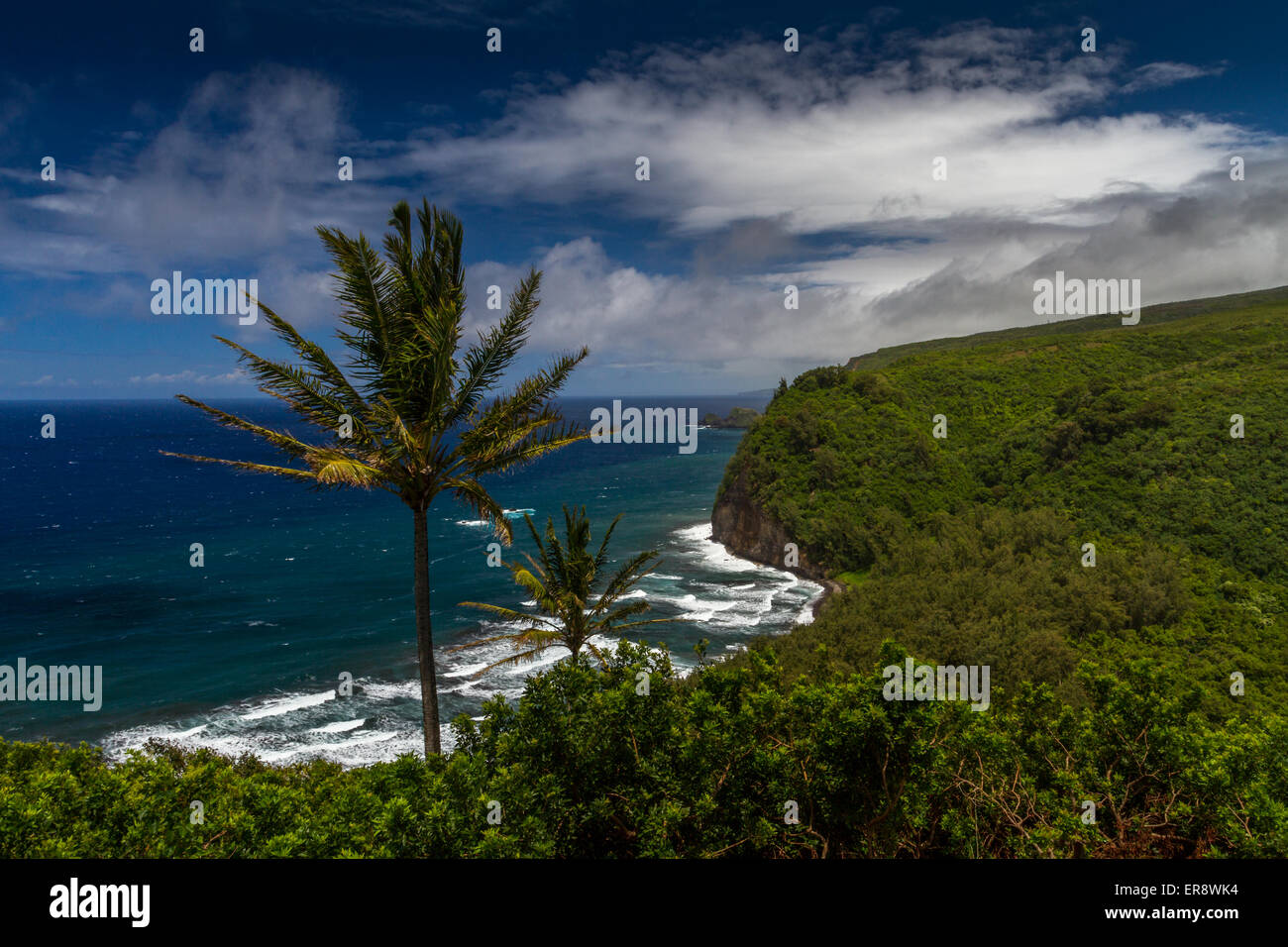 Pololu valley look out point, Hawaii, USA, - Stock Image