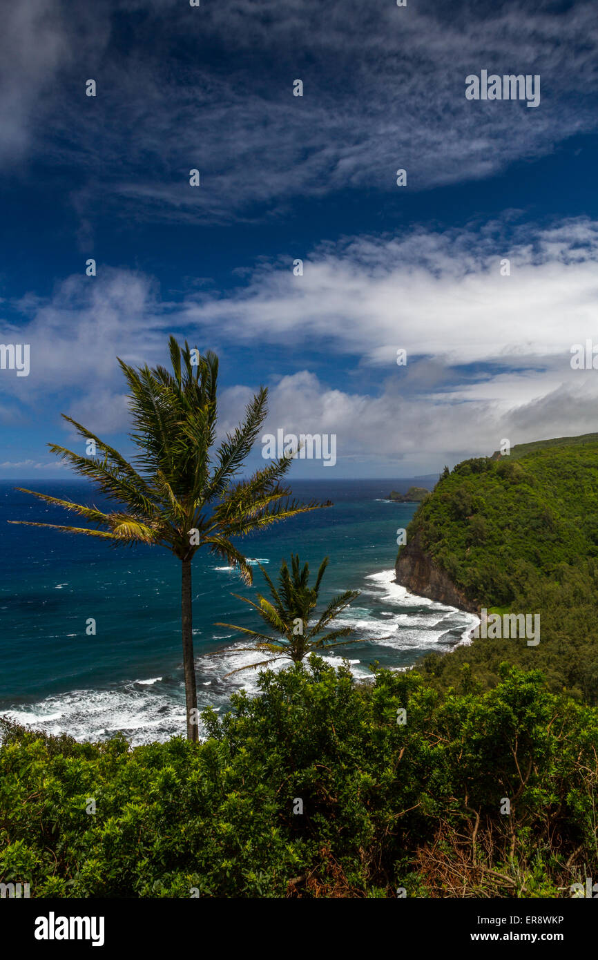 Pololu valley look out point, Hawaii, USA - Stock Image