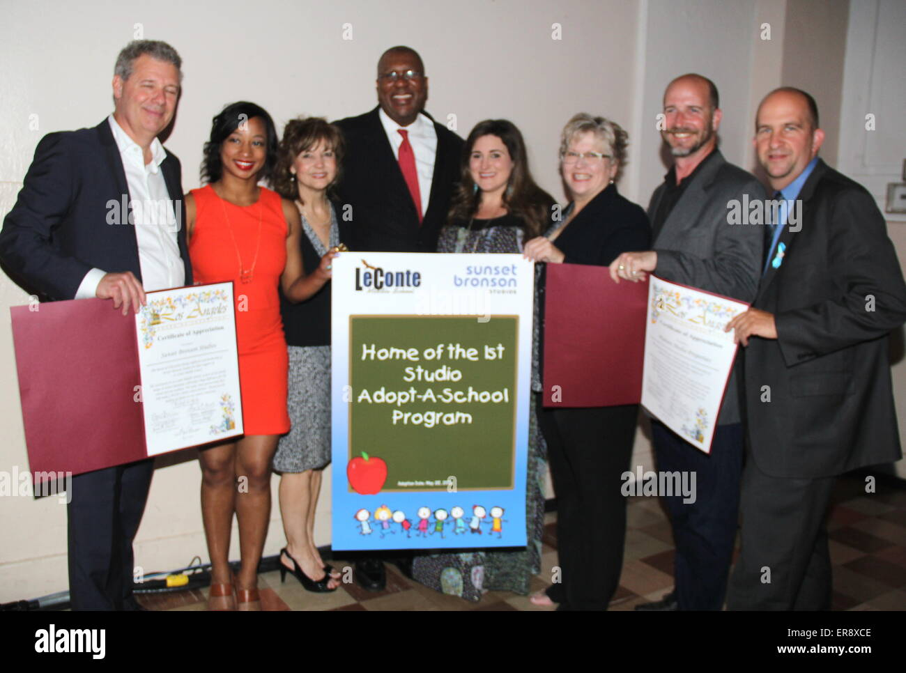 Hollywood, California, USA. 27th May, 2015. I15759CHW.Los Angeles Unified School District Announce Partnership With - Stock Image