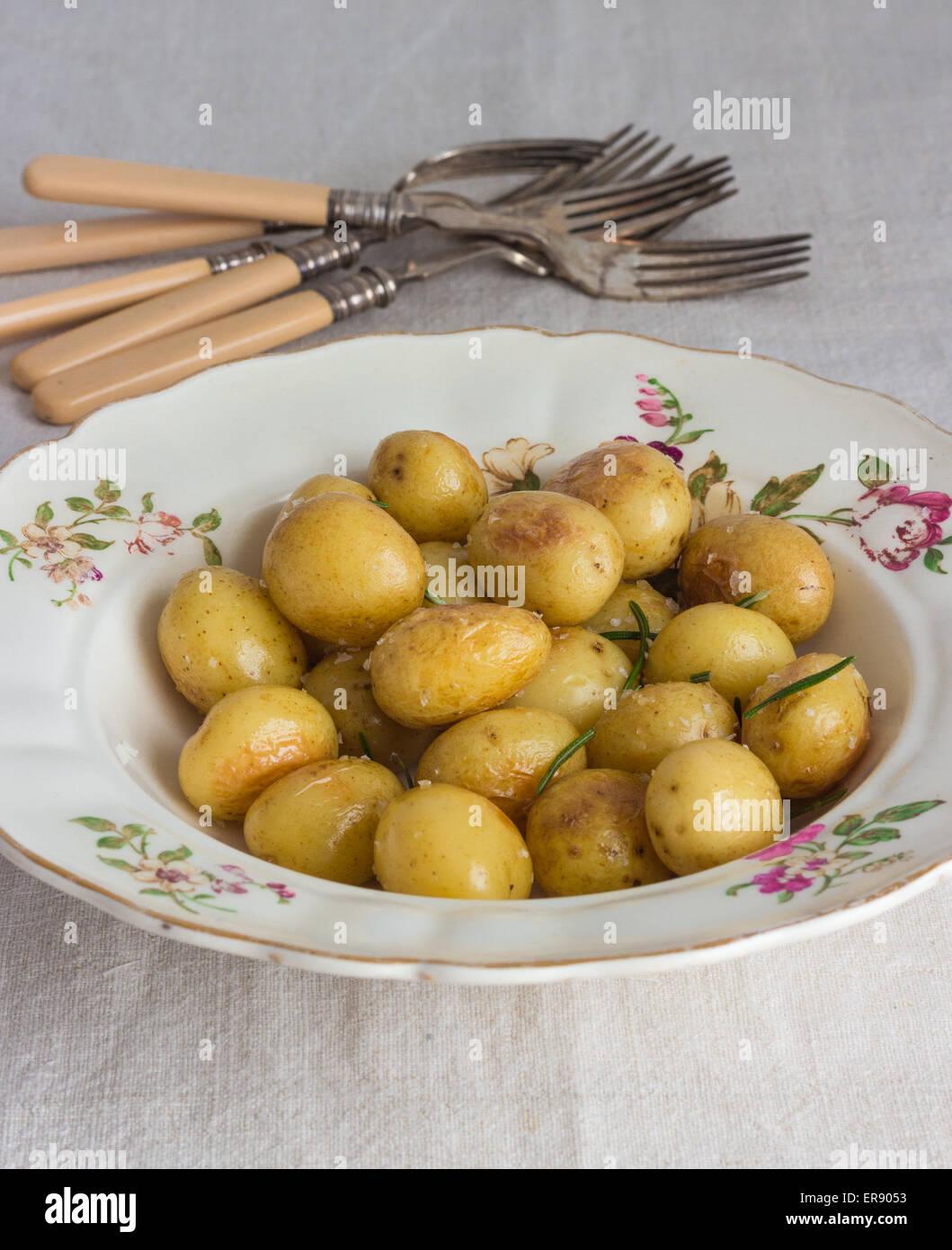 Baby Potatoes - Stock Image
