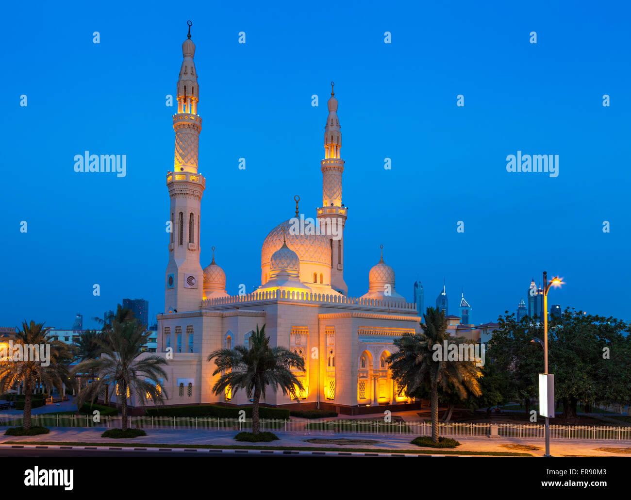 Dubai Jumeirah Mosque, Dubai, United Arab Emirates, UAE, Middle east - Stock Image